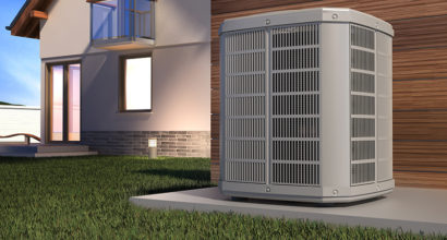 Air heat pump and house